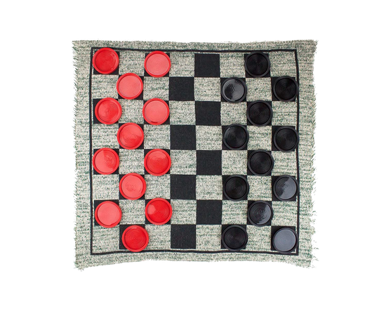Giant 3-in-1 Checkers and Mega Tic Tac Rug