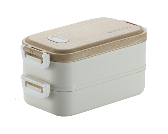 Bento Lunch Box With Handle White