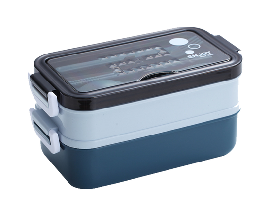 Bento Lunch Box With Soup Bowl Blue