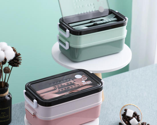 Bento Lunch Box With Soup Bowl Green