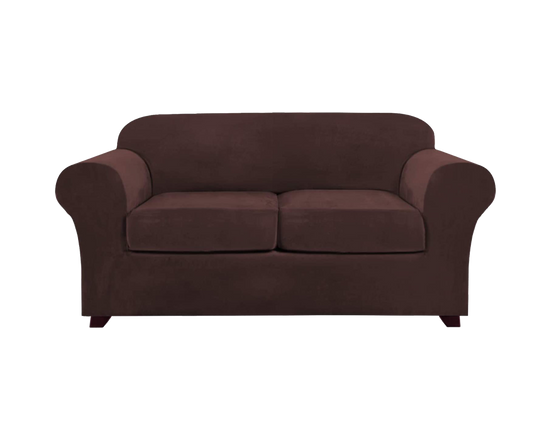 2 Seaters Sofa Cover Brown