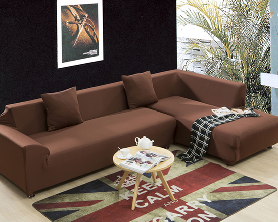 4 Seaters Sofa Cover Brown