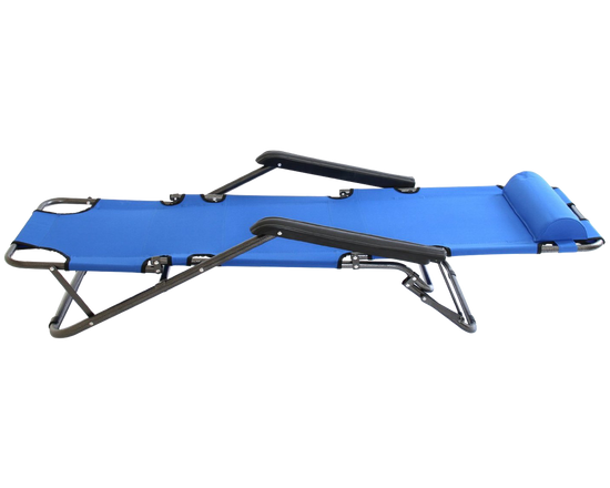 Camping Sun Lounger Blue