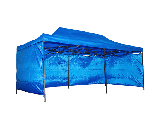 Gazebo With Sides 3x4.5M BLUE