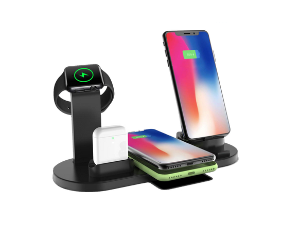 Qi Fast Wireless Charging Station 4 in 1