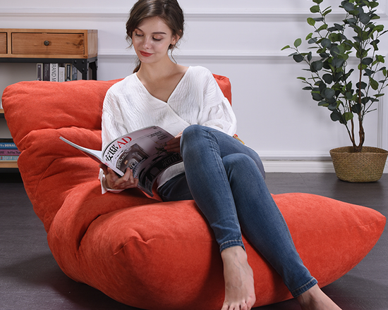 Bean Bag Chair Lounger Red