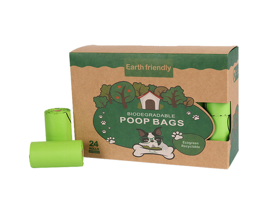 360 Biodegradable Dog Poop Bags Green