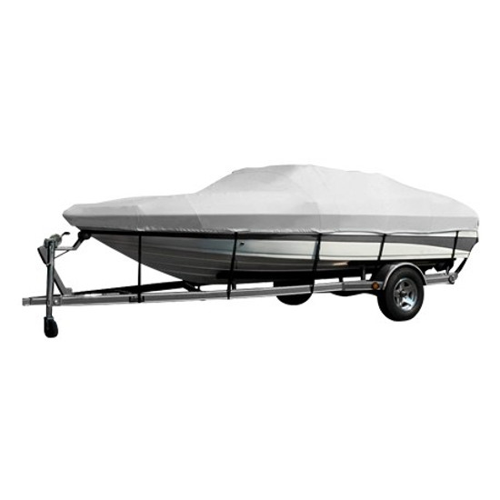 Boat Cover Canvas Hard Top 16-18.5ft GREY