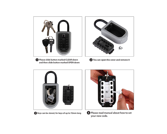 10 Digits Outdoor Key Safe Lock Box