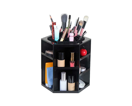 Rotating Makeup Organiser Black