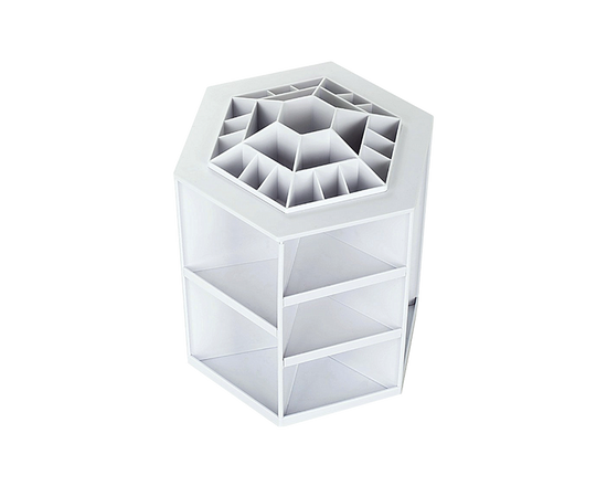 Rotating Makeup Organizer White