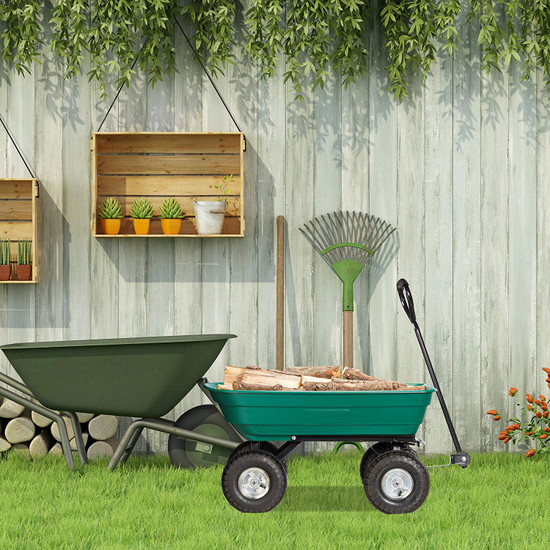 Garden Tipping Trolley Cart