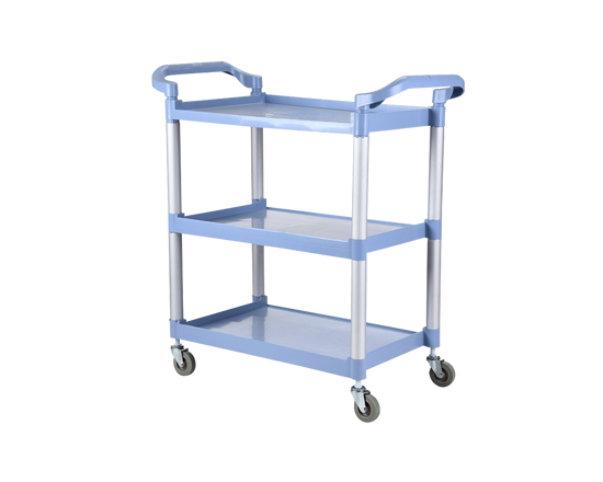 Plastic Trolley On Wheels 3 Tier