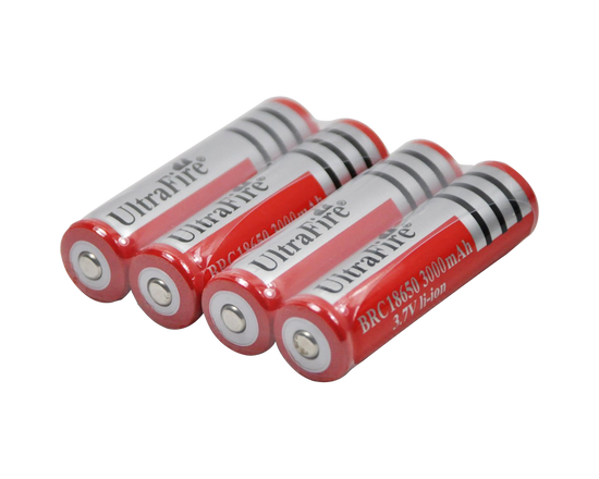 4x Ultrafire Battery 18650 Rechargable 3000mAh