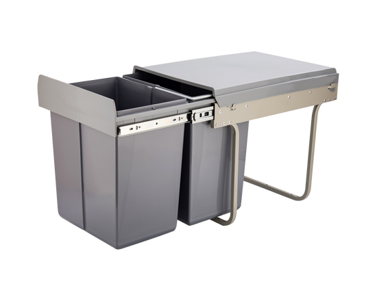 Kitchen Pull Out Bin Double 20L