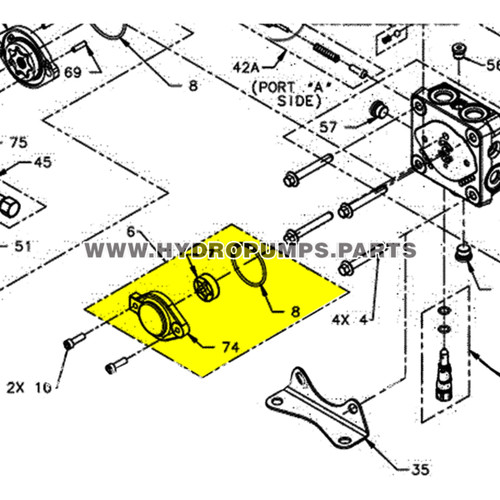Parts lookup Hydro Gear 70582 Auxiliary Pump Kit OEM  diagram