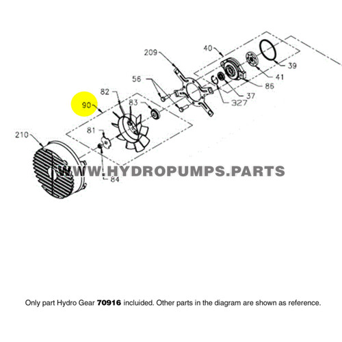 """Hydro Gear 70916 PR 7"""" Fan Hub Kit OEM"""