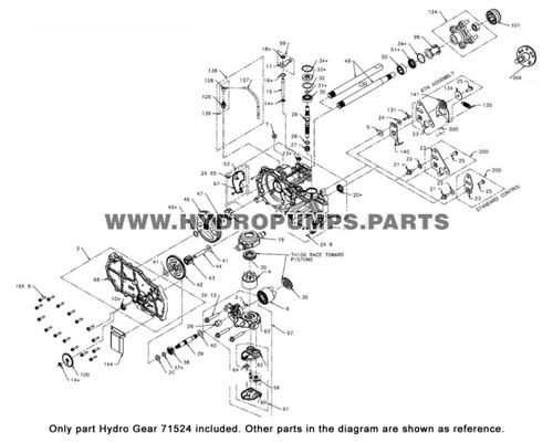 Parts lookup Hydro Gear 71524 Breather Kit OEM diagram