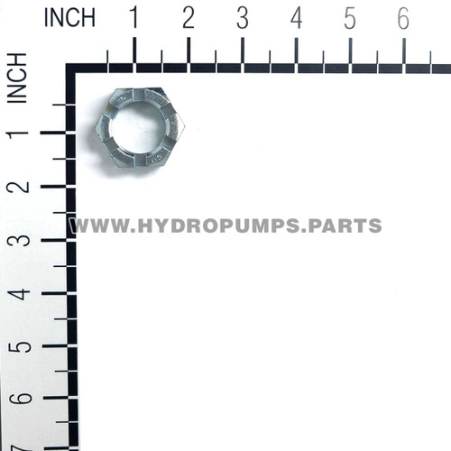 Hydro Gear 51821 HGM Nut 1-20 Hex Slotted OEM - Image 2