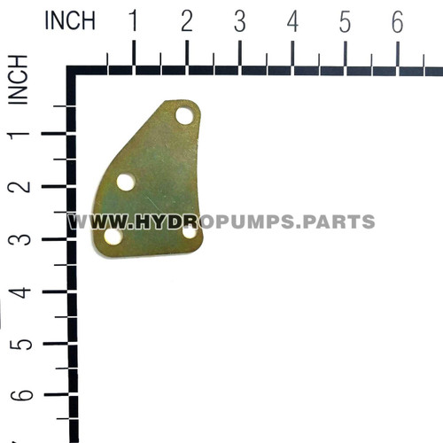 "Hydro Gear 51355 - Bracket 2"" X 3"" Yellow Zinc To - Image 2"