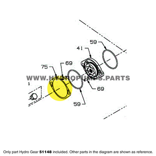 Parts lookup Hydro Gear 51148 Charge Pump Shim OEM diagram
