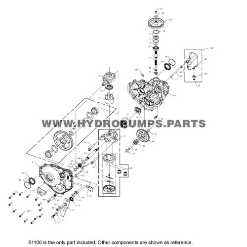 Parts lookup Hydro Gear 51100 Ring Magnet OEM diagram