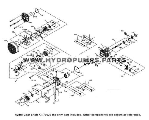 Parts lookup Hydro Gear Shaft Kit diagram