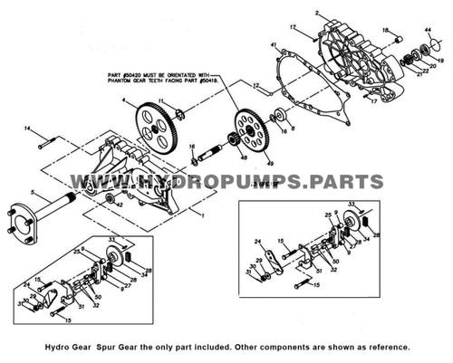 Parts lookup Hydro Gear  Spur Gear diagram
