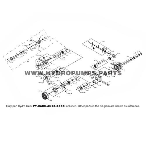 Parts lookup Hydro Gear PY-CACC-AG1X-XXXX PY Series Pump OEM diagram