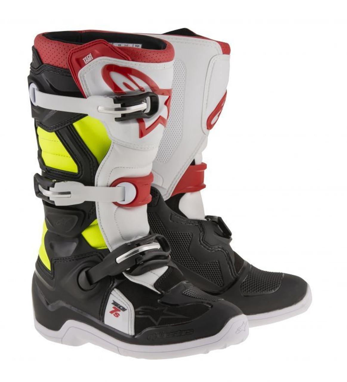 Choose Size ALPINESTARS MX Motocross Offroad TECH 5 Boots Red//White//Black