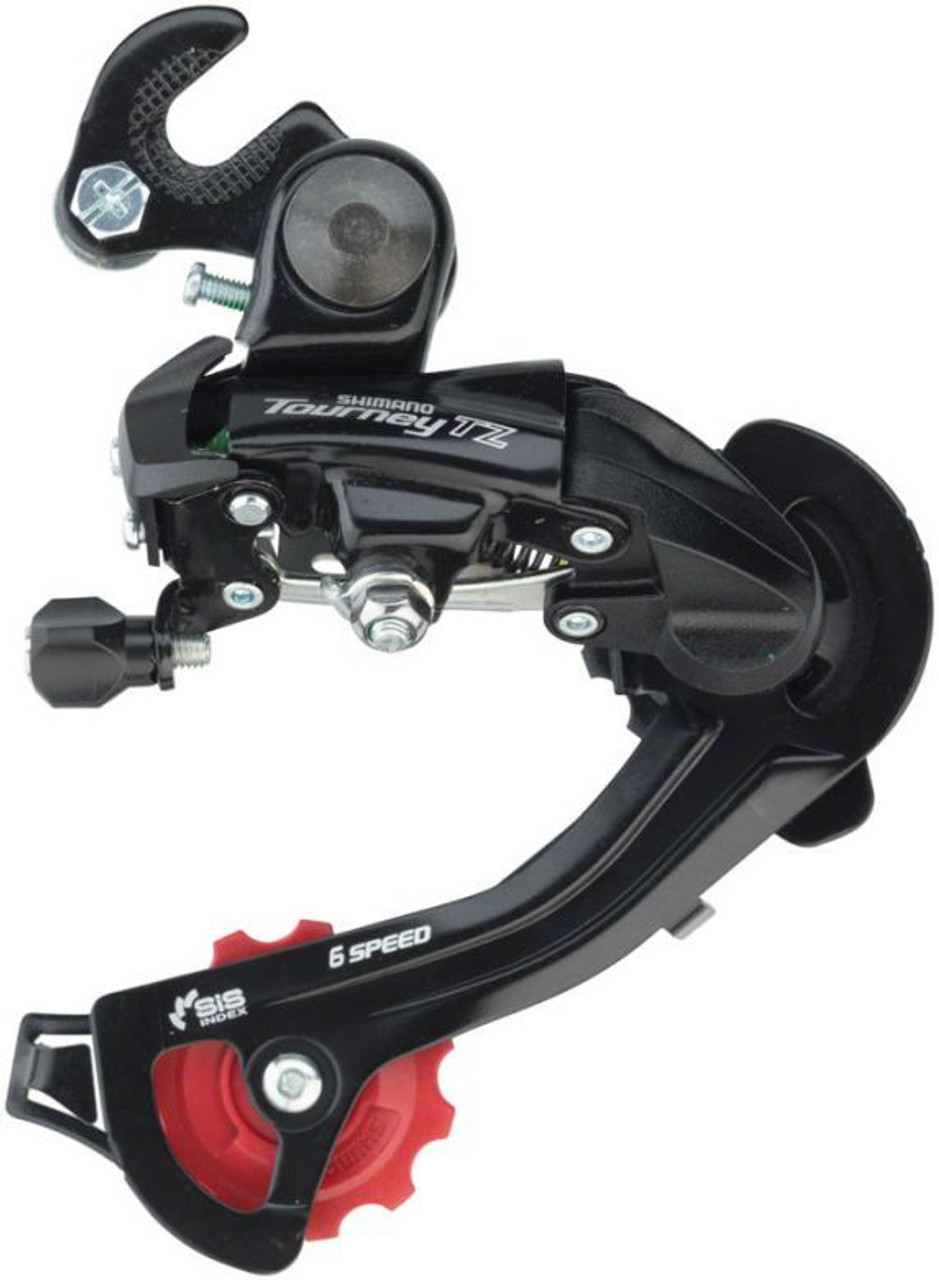 Black Shimano Tourney RD-TY500-SGS 6//7-Speed Hanger Mount Rear Derailleur