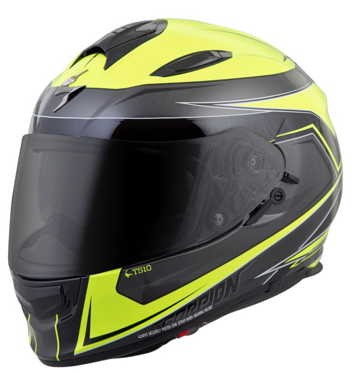 Scorpion EXO-T510 Cipher Motorcycle Helmet Black//Gray