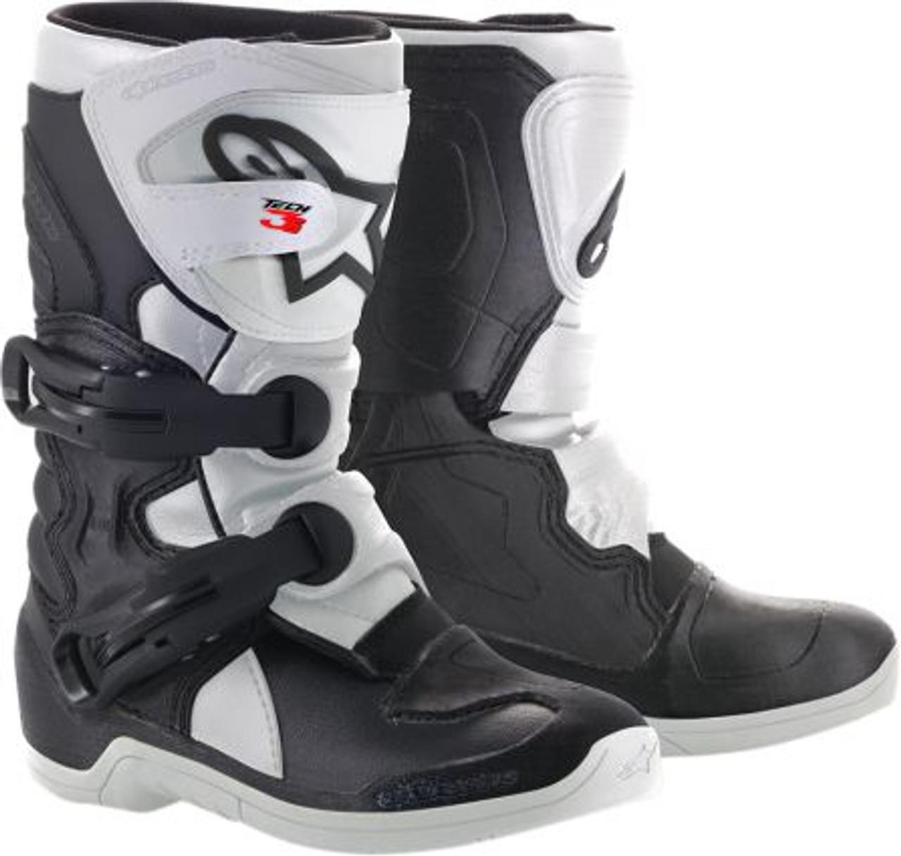 Choose Size Black//White Alpinestars MX//Motocross Kids 2018 TECH 3S Boots