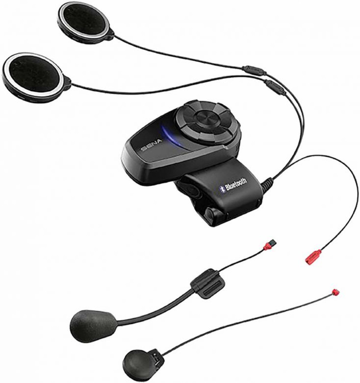 Sena 10s Bluetooth Headset Intercom Corded And Boom Mic Single Pack Set Motorcycle Closeouts By Rider Approved Llc