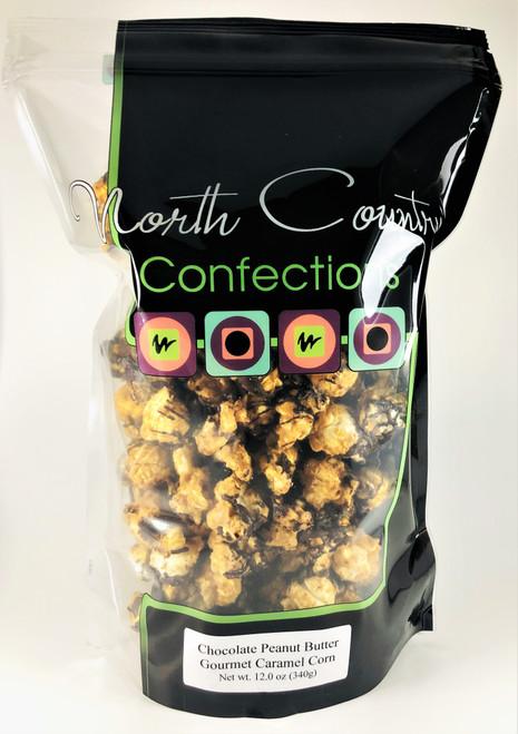 Chocolate Peanut Butter Caramel Corn