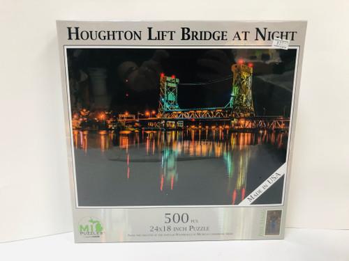 Houghton Lift Bridge Night Puzzle