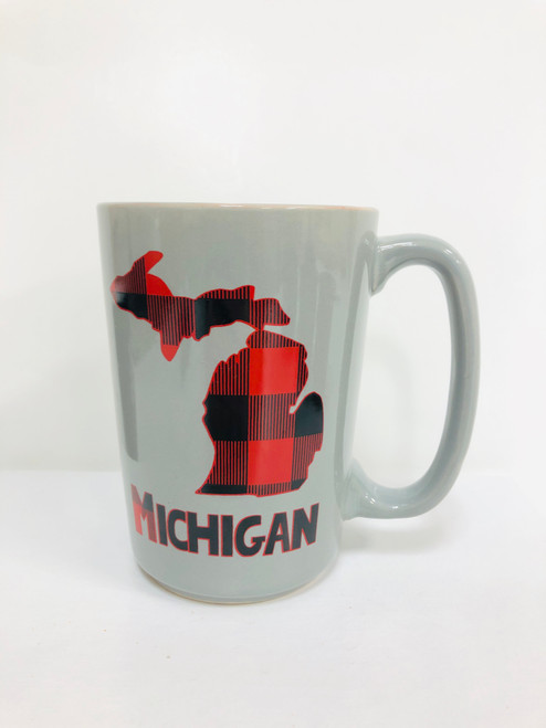 Buffalo Plaid Michigan Mug