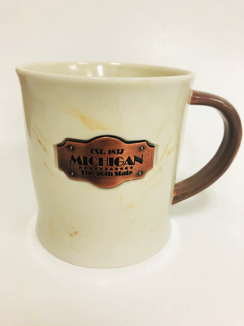 26th State Gold Marble Mug