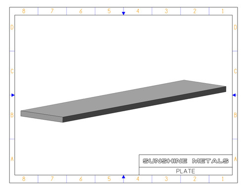 """2024 0.25"""" T851 Rolled Plate (IN0000321)"""