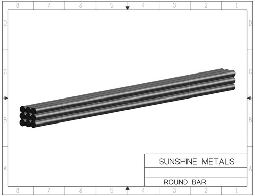 """2024 0.37"""" T3511 Round Bar Extruded (IN0001716)"""