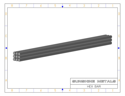 """2024 1.12"""" T851 Hex Bar Cold Finished (IN0002217)"""