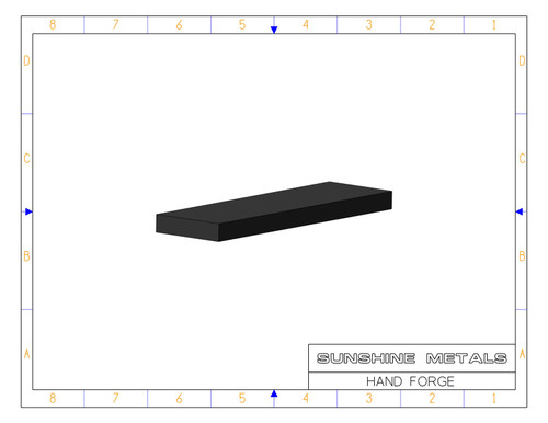 """6061 1.25"""" T6 Hand Forgings Extruded USI (IN0002603)"""