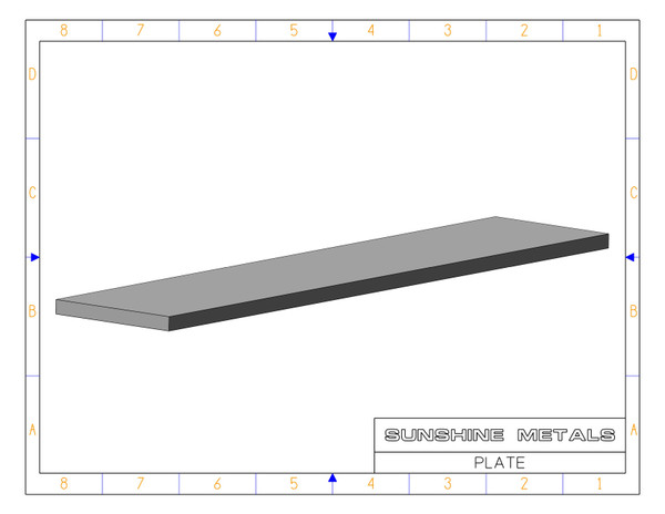 """2024 0.25"""" T851 Rolled Plate USI (IN0009591)"""