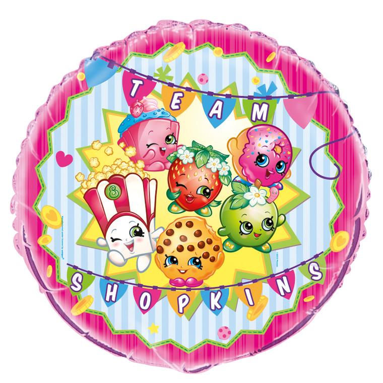 "18"" SHOPKINS Round Mylar  Birthday Party BALLOON Decoration"