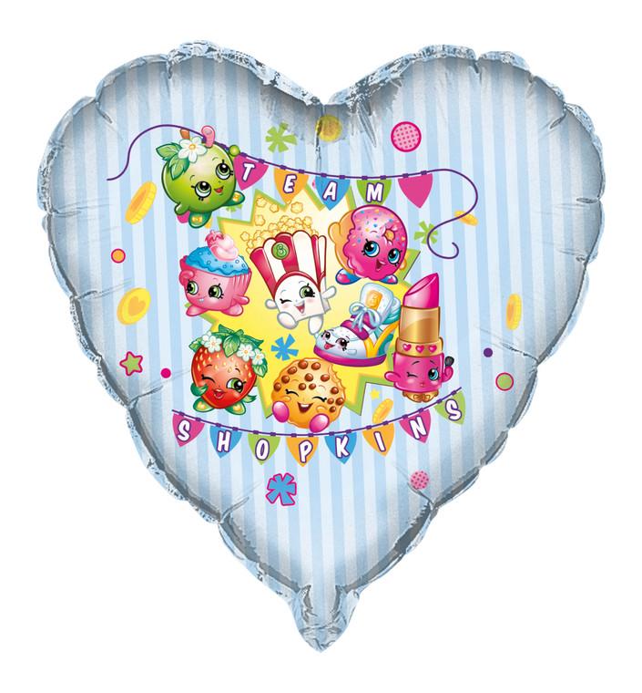 "28"" TEAM SHOPKINS Heart Mylar  Birthday Party BALLOON Decoration"