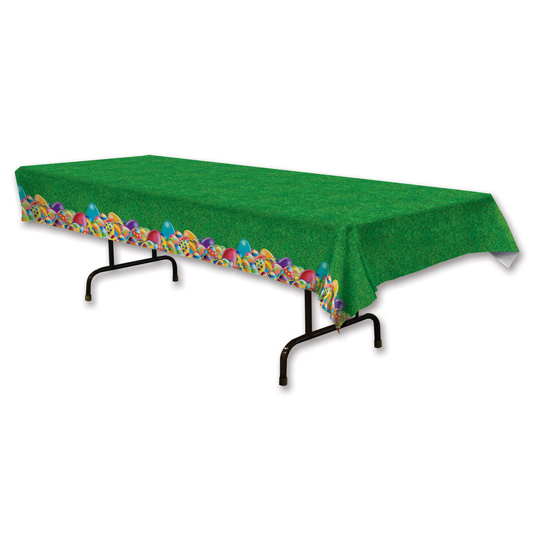 EASTER Eggs  & Grass Plastic TABLE COVER Wedding Birthday Party Decoration