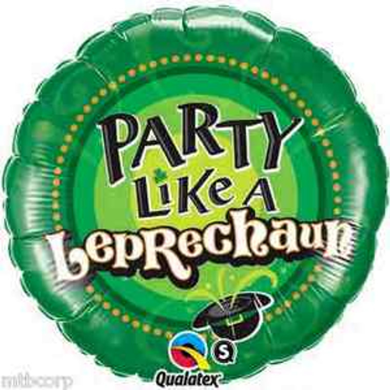 "18"" Party Like a LEPRECHAUN St. Patrick's Party Bar Pub Balloon Decorations"