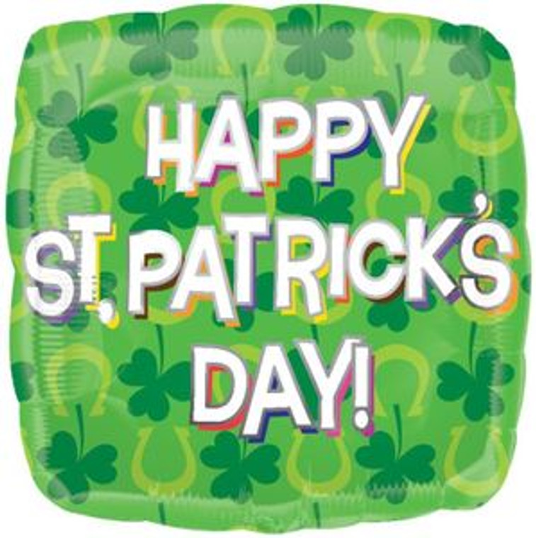"18"" ST PATRICK'S DAY Clover Horseshoe Irish Party Decoration Balloon"