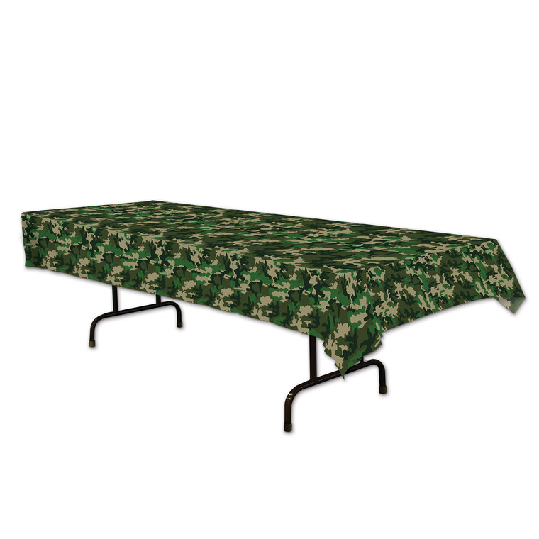 Army Green CAMO Plastic Table Cover Birthday Party Wedding Decoration