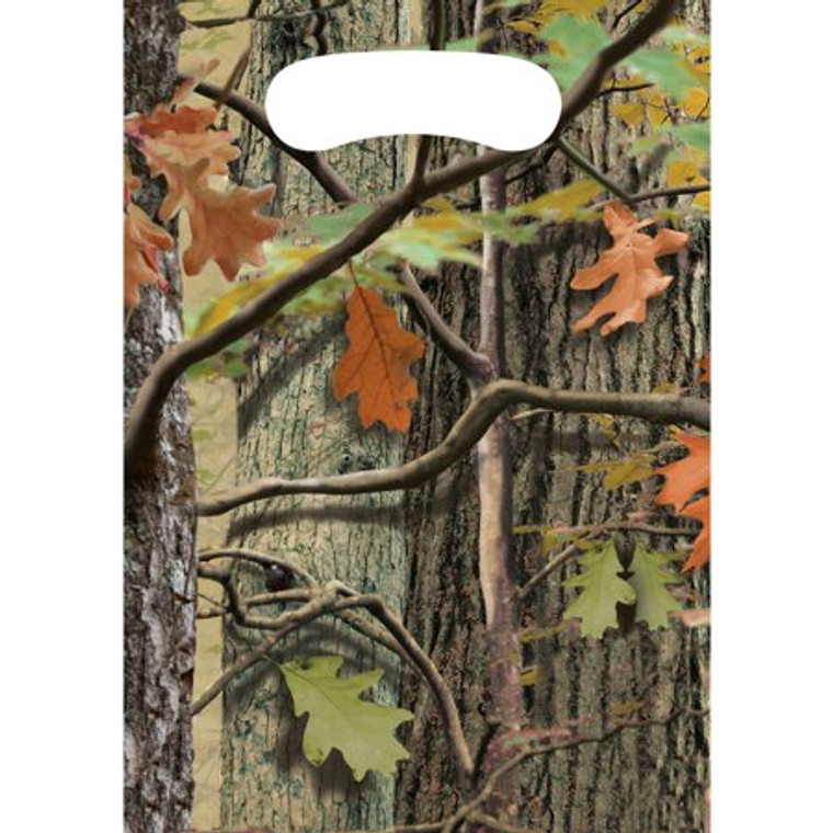 8 ct HUNTING CAMO Plastic Loot Birthday Party Favor Bag